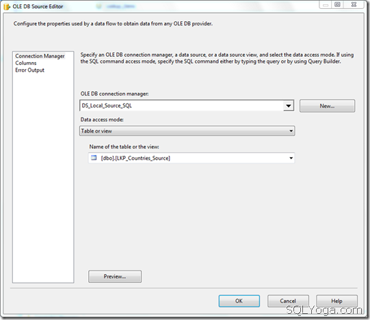 SQL SERVER: SSIS - Look Up Transformation Task